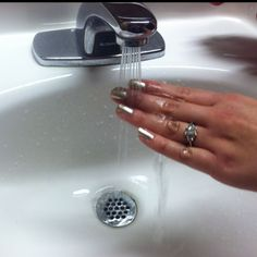 paint your nails. run them under cool water. voila. they're dry. WHAT how did i not know this before. Whattttt?!