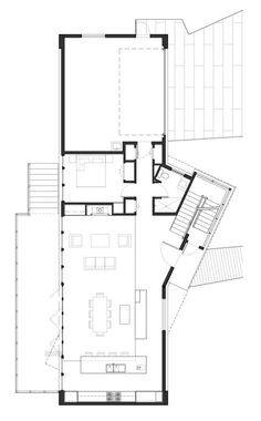 Home Design Drawings Ballard Cut / Prentiss Architects - Image 15 of 17 from gallery of Ballard Cut / Prentiss Architects. First Floor Plan Architecture Plan, Residential Architecture, The Plan, How To Plan, Modern Villa Design, Landscape Plans, House Layouts, Plan Design, How To Level Ground