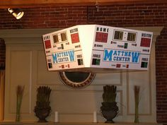 Huge customized jumbotron sign for a basketball theme Bar  at the Lyceum in Salem MA by The Prop Factory, via Flickr