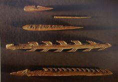 Harpon, poinçons et aiguilles (15 000 - 8000 avant J.-C.) http://geschiedenisenkunst.com/images/602.jpg