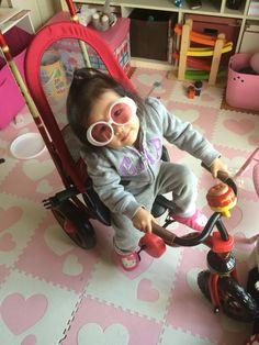 誕生日に三輪車