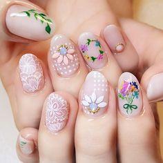 Nude nail polish and Art design