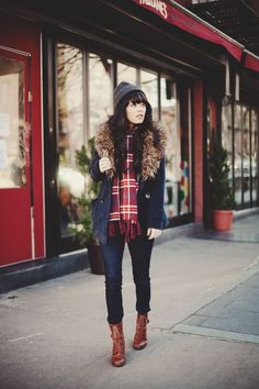 """We're not sure when """"lumberjack chic"""" became a thing but what we are sure about is that we are all about it.  The lumberjack chic trend is great for looking pulled together when the bitter cold weather calls for lots of warm layers.  Here are some ideas for how to make this trend your very own."""