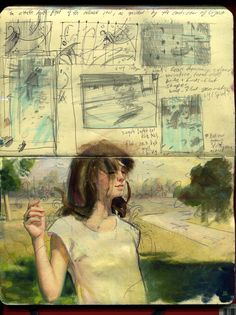 Superb Moleskine Art by Rodrigo Enrique Luff. #moleskine #art #superb