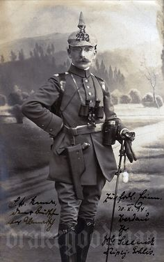 No correspondence. A sharp studio portrait depicting Leutnant… World War One, First World, Old World, Ww1 Photos, History Photos, Ww1 Pictures, Native American History, American Civil War, British History
