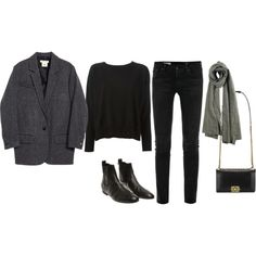 A fashion look from September 2014 featuring Gucci sweaters, H&M jackets and AG Adriano Goldschmied jeans. Browse and shop related looks.