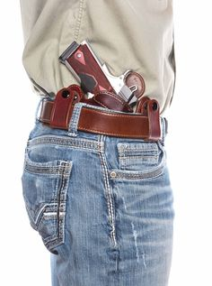 IWB Leather Concealed Carry Inside the Waistband Holster 1911 Holster, 1911 Pistol, Colt 1911, Kydex Holster, Rifles, Inside The Waistband Holster, Custom Leather Holsters, Leather Books, Leather Projects