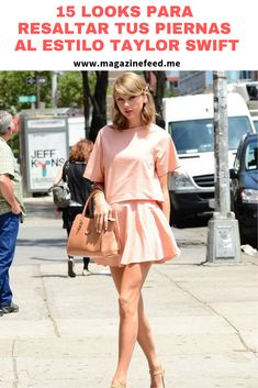 Otra manera de alargar tus piernas es usando tacones en tono nude. Estilo Taylor Swift, Vintage, Style, Fashion, Hue, Legs, Heels, Celebrities, Celebrity