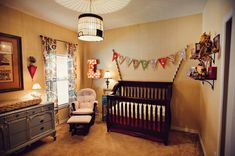 Circus-Themed Nurseries.  OMG I love it!  I love the dresser the most