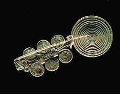 Spiral fibula.  Late Bronze Age, 1250–850 B.C. Finding place: Feuersbrunn.