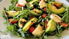 Avokádós rukkolasaláta | Nosalty Avocado Salat, Mozzarella, Sprouts, Potato Salad, Food And Drink, Potatoes, Meals, Vegetables, Cooking