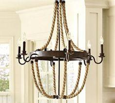 Beachy rope chandalier