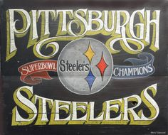 "Pittsburgh 4  Print bundle-the ""burgh bundle"", faux vintage art, original art,wallhanging, sports decor. $52.00, via Etsy."