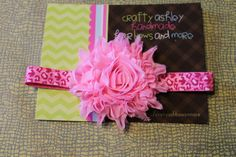 pink glitter   sparkle leopard flower by CraftyAshBowsnMore, $5.00