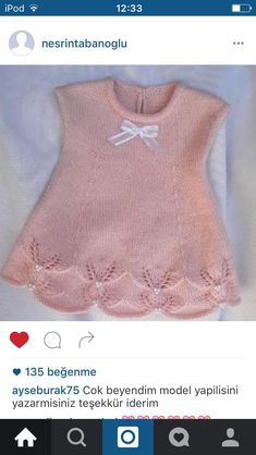 "diy_crafts- ""pixels \""LOVELY hand knit dress w/ princess seam detail\"" "", ""ao len be ua thich"", ""This post was discovered Diy Crafts Knitting, Knitting For Kids, Hand Knitting, Knit Baby Dress, Baby Cardigan, Baby Dress Patterns, Baby Knitting Patterns, Crochet Baby, Knit Crochet"