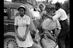 1940  Migrant workers travel from Florida to New Jersey to harvest potatoes. African Americans were particularly devastated by the Great Depression when work and food were scarce. They became part of a major migratory cycle in which laborers started down south in the spring, worked their way north, completed the fall harvest and then returned to Florida to begin the cycle again