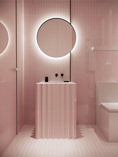 Discover pink bathroom inspiration only in home design site Salon Interior Design, Bathroom Interior Design, Bad Inspiration, Bathroom Inspiration, Interior Inspiration, Brown Bathroom, Modern Bathroom, Italian Bathroom, Small Bathrooms