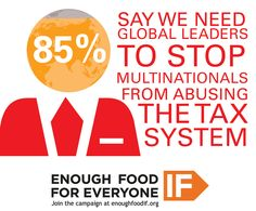85% say we need Global leaders to STOP multinationals from abusing the Tax system