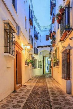 Street in Cordoba, Spain by fennirose Places Around The World, Oh The Places You'll Go, Travel Around The World, Places To Travel, Places To Visit, Around The Worlds, Wonderful Places, Beautiful Places, Beautiful Streets