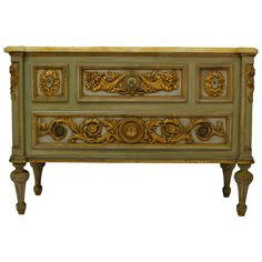 Louis XVI Gilded Commode | From a unique collection of antique and modern commodes and chests of drawers at https://www.1stdibs.com/furniture/storage-case-pieces/commodes-chests-of-drawers/