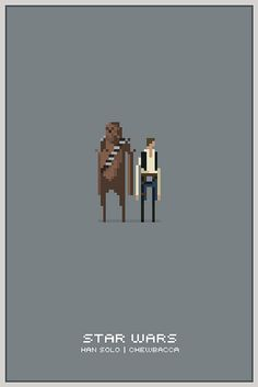 Pixel Han and Chewbacca