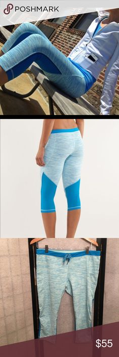 Lululemon Beach Runner Crops Like new luxtreme 4 way stretch crops. 2 side pockets and drawstring. In excellent shape. Size 12.   Happy to bundle :)  Lots of Victoria Secret, Pink, Nike, Under Armour, Lululemon, Patagonia, Miss Me, and other Buckle items to list. Follow me to check out the great deals. lululemon athletica Pants Ankle & Cropped