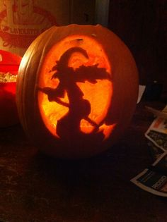 Daughter carved this witch!!