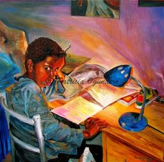 Lighten up! It's just homework by Patricia Ogundero on ARTwanted
