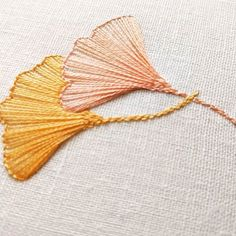 More gingko leaves in New DMC colors-- 19 & 20. . . . #embroidery #stitching #handembroidery #handmade #bordado #broderie #handmadeUSA #embroideryinstaguild #needlework #craftastherapy #crafttherapy #makersmovement #dmcthread #contemporaryembroidery #modernmaker #etsyseller #handstitched #fiberartist #etsy #embroideryart #embroideryhoop #embroiderypattern #flowers #botanical #nature #embroiderykit #diycrafts #embroideryproject