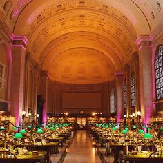 Venue: Boston Public Library in Boston, Massachusetts. Majestic architecture, sweeping rooms (like Bates Hall, above), a lush courtyard, and an extra-accommodating staff make this landmark building a top pick. And, no, silence is not required; Boston Public Library.