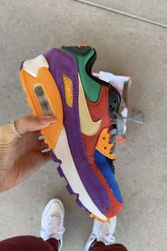 Shop Air Max 90 'Viotech' - Nike on GOAT. We guarantee authenticity on every sneaker purchase or your money back. Hype Shoes, Buy Shoes, Me Too Shoes, Cute Sneakers, Shoes Sneakers, Yeezy Shoes, Shoes Men, Converse Shoes, Shoes Heels