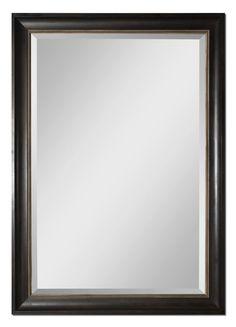 Casual elegance. Axton Oversized Black Framed Mirror by Uttermost   #mirror #mirrors #largewallmirrors #largescalemirrors #leanermirror #homeaccents #innovationsdesignerhomedecor #uniquehomedecor #homedecorshop #homedecorlove #interiordesigninspiration #homedecorstore #homedecorate