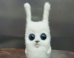 Needle Felted Toy   Bunny. Rabbit. White. Gift under di VladaHom, $49.90