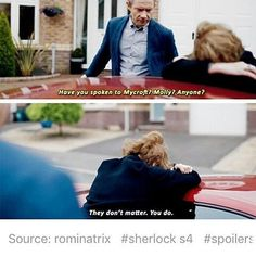 """They don't matter. You do"" - Mrs. Hudson and John #Sherlock"