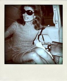 Big hair and bigger glasses: Jackie O