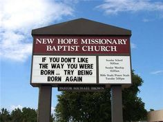 What better way to evangelize and entertain the world than the church marquee! Enjoy these funny and inspiring signs. Keep hitting NEXT when you are done to visit even more fun signs! Church Sign Sayings, Funny Church Signs, Church Memes, Church Humor, Funny Signs, Wise Sayings, Christian Humor, Christian Life, Christian Cartoons