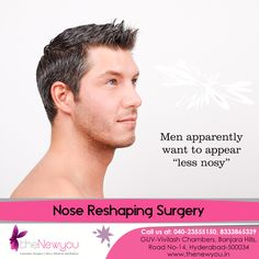 Get the perfetly shaped nose that you always desired with the #NoseReshapingSurgery from theNewyou.