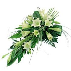beautiful symbol of life, a floral tribute is a wonderful and much appreciated way to express your feelings for a friend or loved one. This elegant spray is suitable for delivery to the home or funeral service. Funeral Bouquet, Funeral Flowers, Wedding Flowers, Funeral Floral Arrangements, Vase Arrangements, Deco Floral, Arte Floral, Holland Flowers, Gerbera
