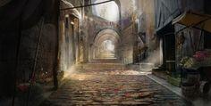 Concepting a medieval street by Gycinn.deviantart.com on @deviantART