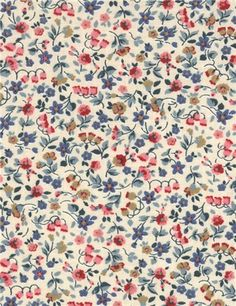 Vu sur www.stragier.com : Popeline de Coton - Gypso - Menthe Rose
