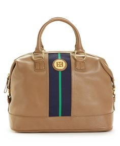 Tommy Hilfiger Handbag, Pebble Leather Logo Bowler - Tote Bags - Handbags & Accessories - Macy's