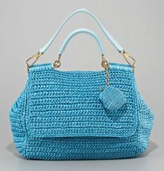 This page is a compilation of pictures of crocheted Dolce&Gabbana Handbags. They're all beautiful but what wasn't included was the price tag. I'd be very interested in seeing that as I can replicate most every bag listed.