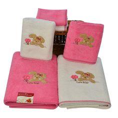 Lucia Minelli Kids Cute Bear Embroidered 6 Piece Towel Set