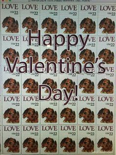Happy Valentines Day!   1986 LOVE Stamp was illustrated by Saul Mandel.