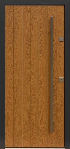 Dębowe wejściowe drzwi zewnętrzne 431,20 winchester + antracyt
