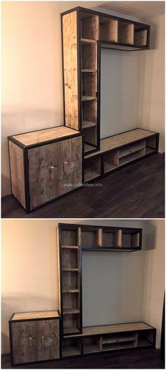 pallet media console plan