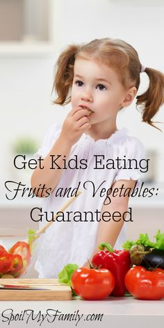 Here's one sure-fire thing you can do to get your children to eat fruits and vegetables! And to LIKE them! Here is the only thing you need to know about the development of the sense of taste and how to use it to your advantage to get your children eating fruits and veggies like a pro in no time!