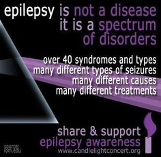 I experience 2 types of seizures. My seizures were first triggered by a tumor in the motor region of my brain. Surgery removed that tumor, but the scar tissue and fluids that remain there require me to be on medication for the rest of my life to suppress seizures. #EpilepsyAwareness