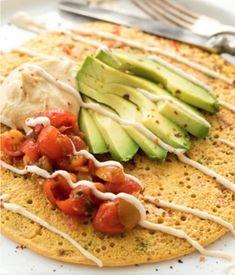 Vegan Foods, Vegan Dishes, Vegan Meals, Vegetarian Recipes, Vegan Vegetarian, Healthy Recipes, Free Recipes, Paleo, Chickpea Pancakes