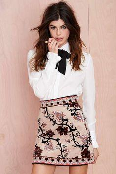 Vintage Emilio Pucci Escape Velvet Skirt | Nasty Gal #streetstyle